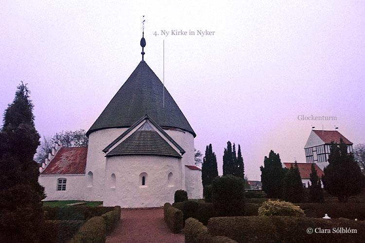 Die präzise Ny Kirke Rundkirche auf Bornholm