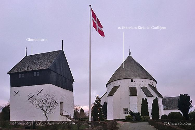 Die prominente Østerlars Rundkirche auf Bornholm
