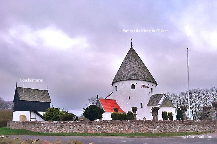 Die prächtige Sankt Ols Rundkirche auf Bornholm