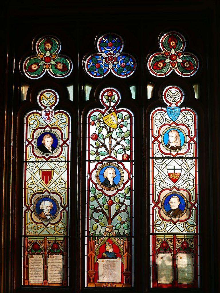 Schloss Drachenburg Glasfenster deutsche Dichter