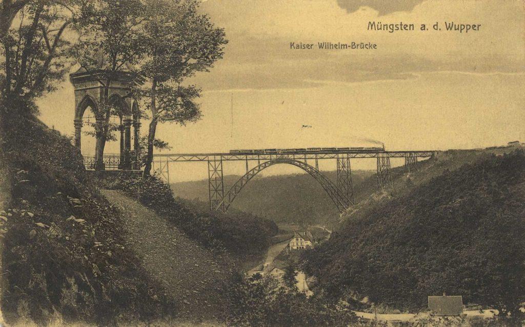 Kaiser-Wilhelm-Brücke und der Diederich-Tempel 1912