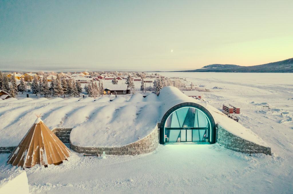 Das Eis-Hotel in Jukkasjärvi bei Kiruna