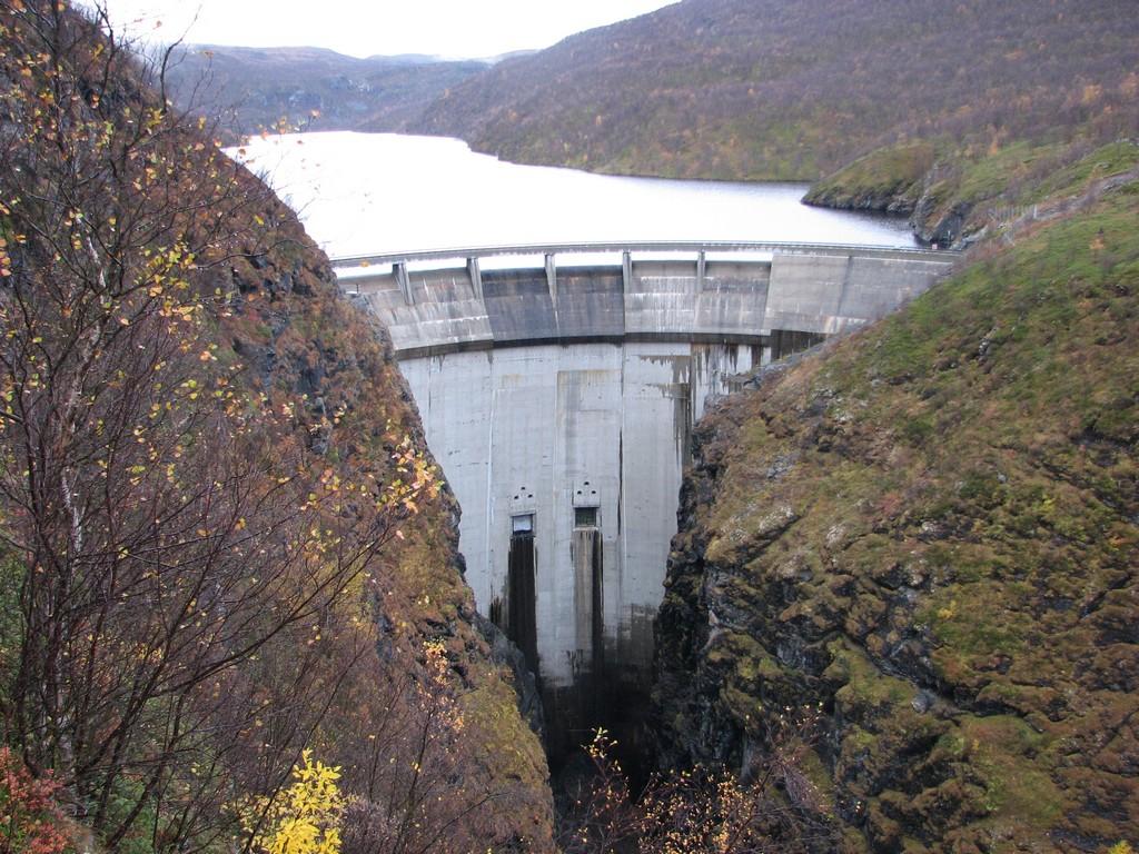 Der Staudamm in Alta