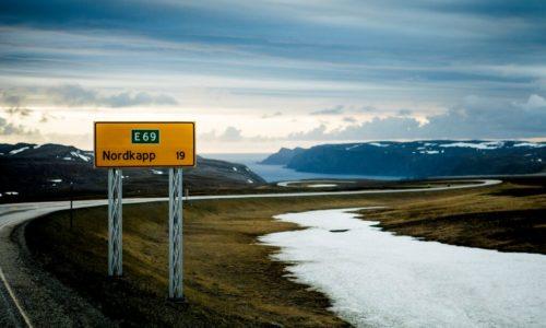 Schild E69 Nordkap
