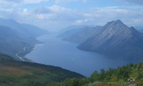 Der Langfjord bei Alta